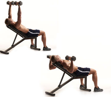 Incline Dumbbell Bench Press                   Incline Dumbbell Press