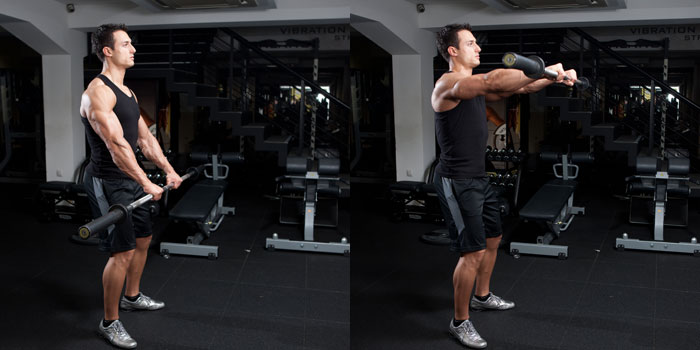 Standing-Barbell-Front-Raise