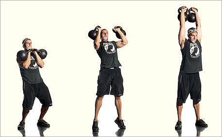 double arm kettlebell push press