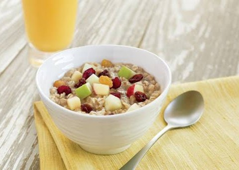 fruit-and-maple-oatmeal-oj
