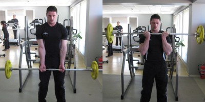 Close-Grip-Standing-Barbell-Curl