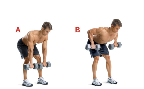 dumbbell bentover rows