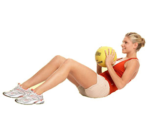 medicine ball shoulder tosses