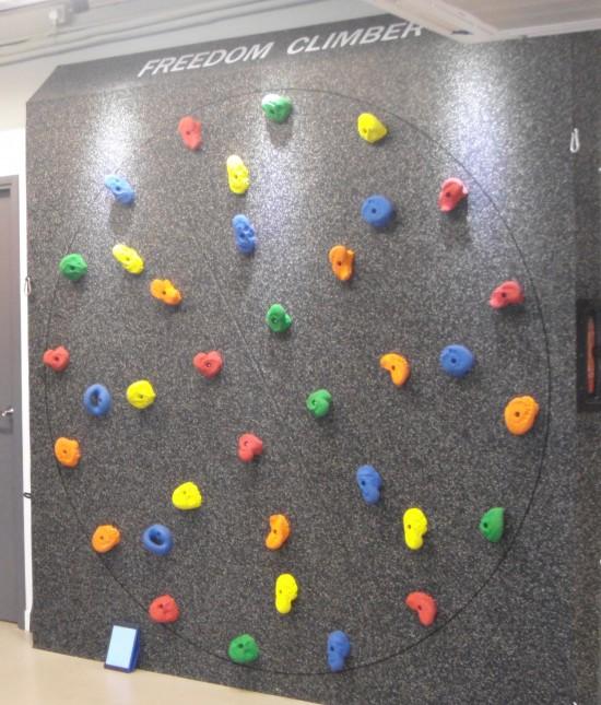 曉轉的攀石牆,練體能一流!