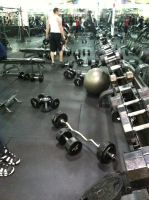 dumbbell all over the floor
