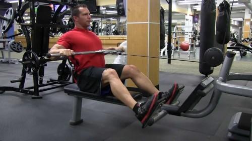 wide grip machine row