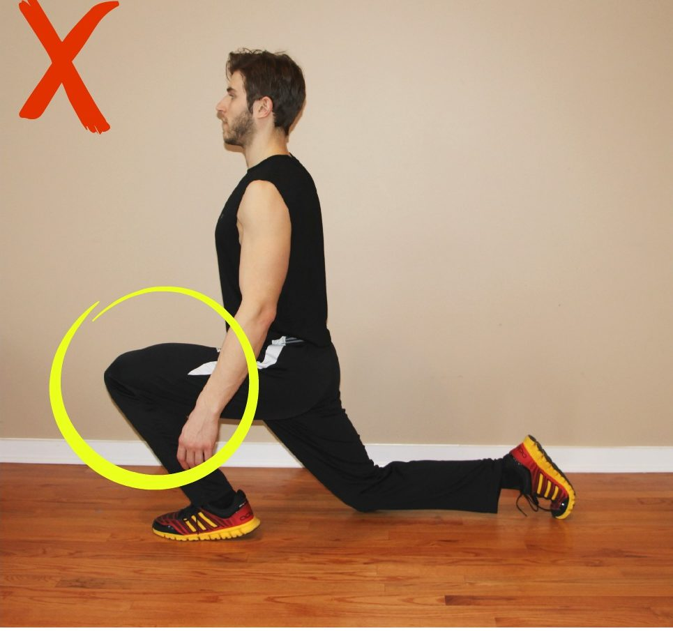 lunge common mistakes