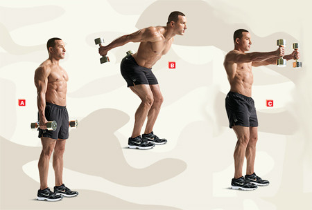 dumbbell skier swings